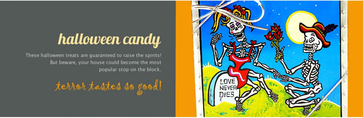 Day of the Dead Candy Bars and confections